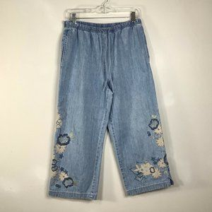 J Jill Out of the Blue Womens Capri S P Jeans